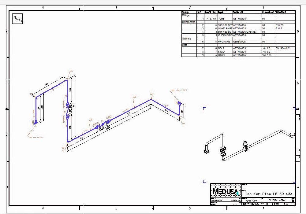 Piping Isometrici Automatici per la costruzione e