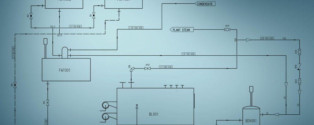 Un diagramma di flusso è la base per la pianificazione piping