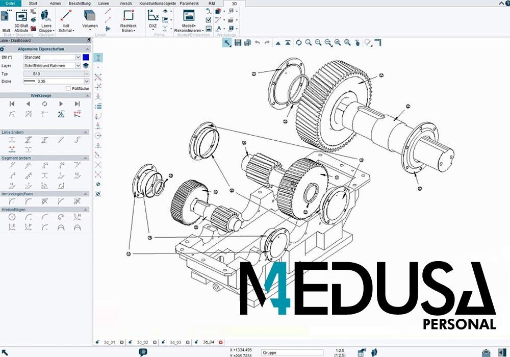 MEDUSA4 Personal è un software CAD che può essere utilizzato in modo economico dagli artigiani
