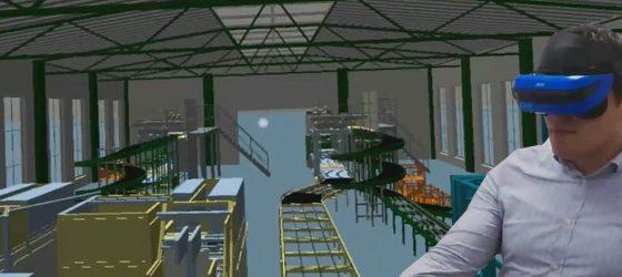 Rundgang in einer Fabrik in VR