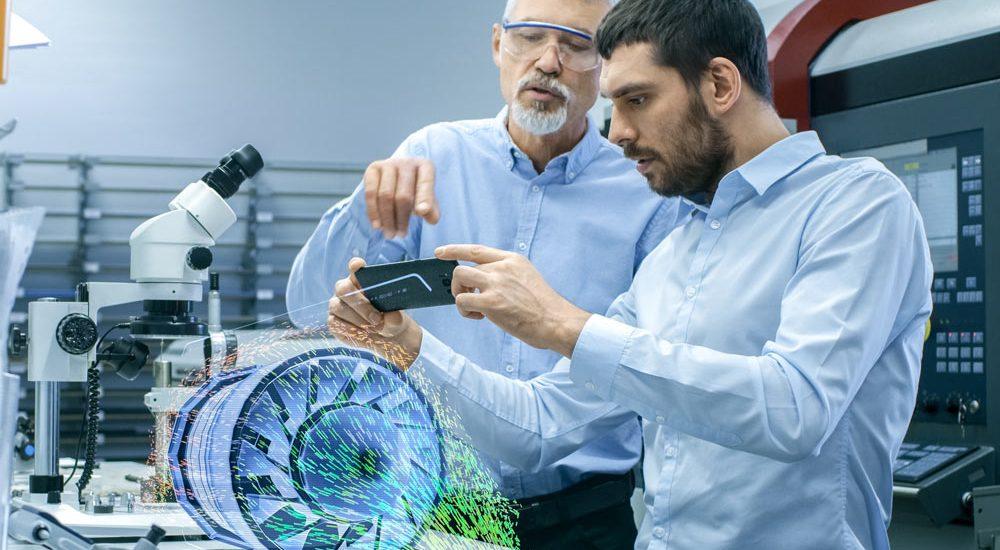 Modelli 3D sullo smartphone per gli addetti alle vendite