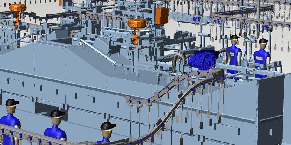 Factory Layout Mechanical Handling 3D MPDS4