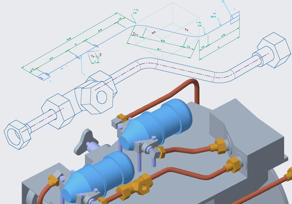 Creazione di sketch isometrici di tubazioni direttamente in Creo Piping
