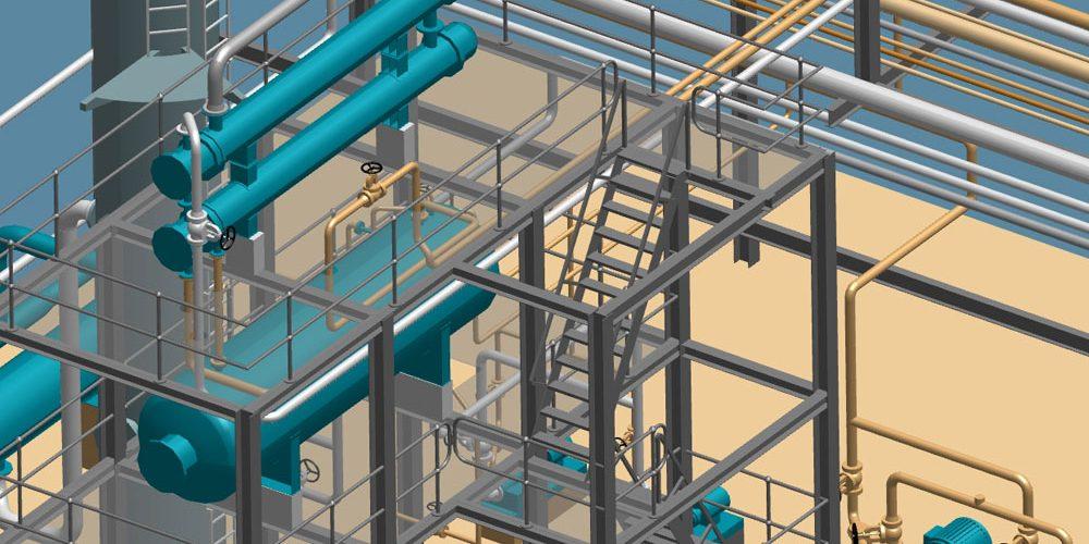 Pianificazione 3D indipendente dalle dimensioni nella costruzione di impianti