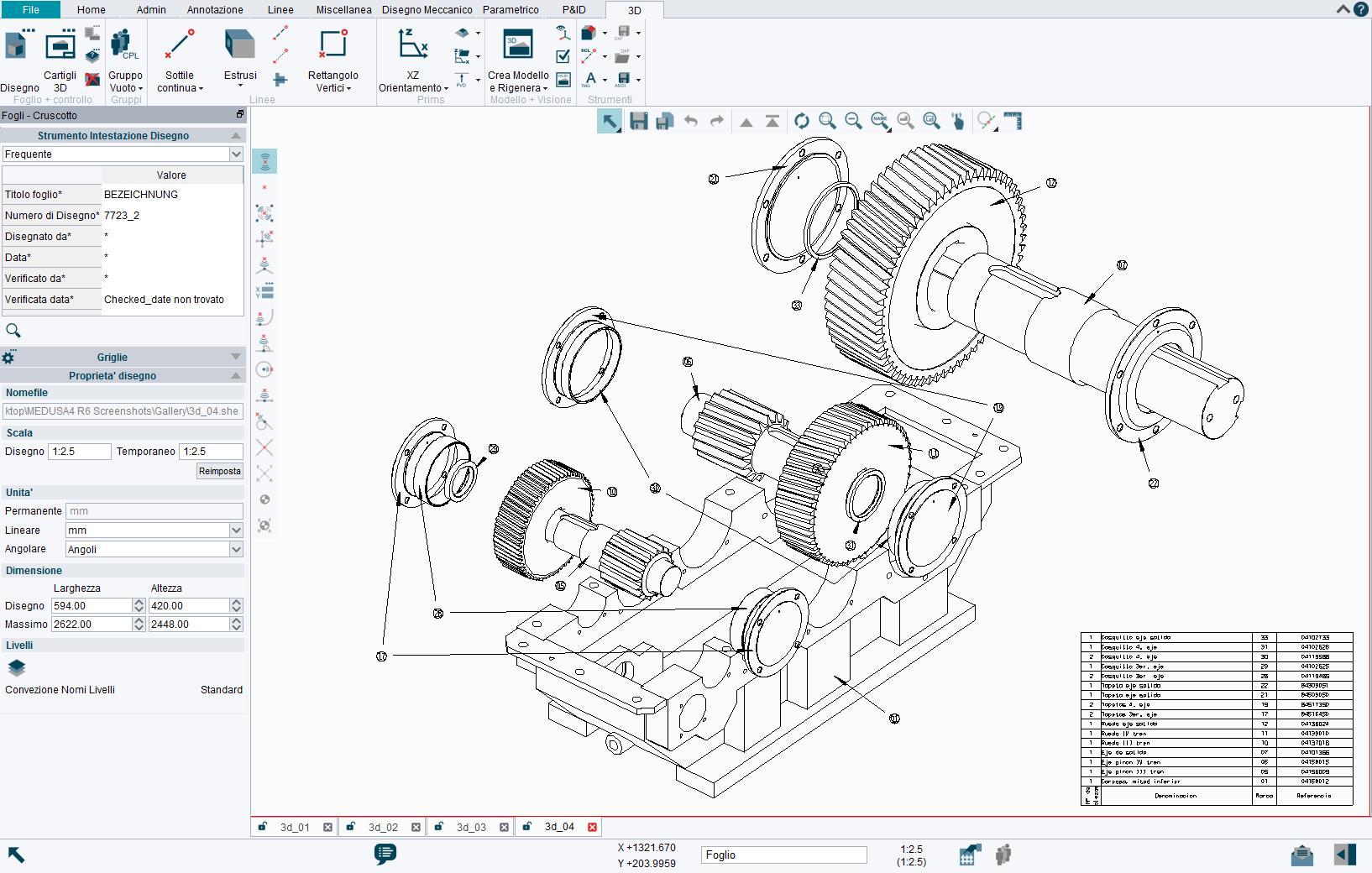 I modelli 3D possono essere creati da viste 2D in modo semplice e veloce con M4 DRAFTING.